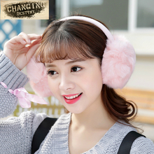 2017 Girl Rabbit Fur Earmuffs Winter Anti-cracking Keep Warm Earmuffs Rose Fashion Rabbit Hairy Ears Cover Fur Fur Headphones(China)