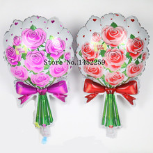 XXPWJ Free shipping 1pcs / lots of new aluminum balloons rose cartoon balloon wholesale wedding party birthday decoration U-014(China)