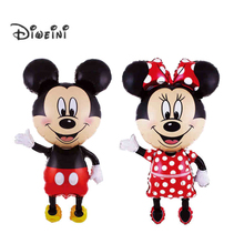 "110cm 43""X25""  Giant Mickey Mouse Minnie Inflatable Foil helium Balloon Birhday Baby Mickey Decoration Party Supplies Kids Toys"