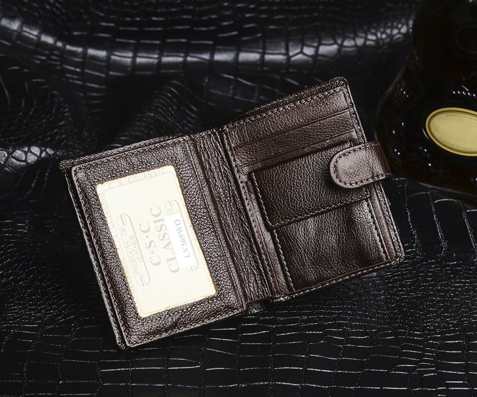 Men Wallets Brown Coffee Soft Cowhide Real Genuine Leather Wallet Money Pocket Vertical section Men Purses Wallet Coin Bags<br><br>Aliexpress