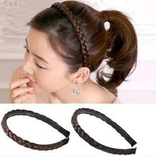 1 Pcs Fashion Style WomenTwisted Wig Braid Hair Band Braided Headband Hair Accessories haarbanden voor vrouwen