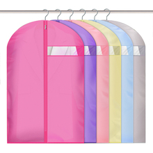 1 Pc Various Color Cloth Cover Bag With Zipper Garment Dust Cover Dust Bag Coat Storage Bag Protector cloth Bag Protective Cover
