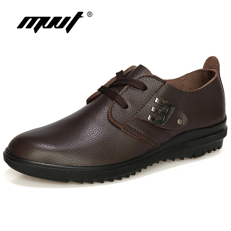 MVVT Top Quality Genuine Leather Shoes Soft Men Oxfords Leather Casual Shoes Plus Size Formal Shoes Solid Men Shoes<br>