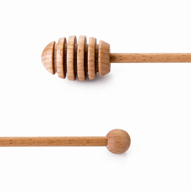 Wooden Honey Spoon Long Handle Beech Wood Honey Dipper Stick Wood Honey Coffee Bar Mixing Spoon Kitchen Utensils Tea Accessories (5)