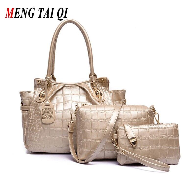 Luxury Handbags Women Bags Designer Brand Shoulder Bags Ladies Totes Pu Leather Purses And Handbags Women Messenger Bags 3 Set 3<br><br>Aliexpress