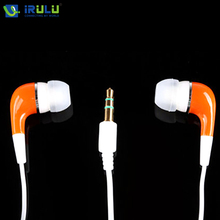New Orange/Pink 3.5mm In-Ear Earphone Earbud Great Stereo Sound Soft Silicone Earphones Support Pad Laptop Cheapest Earphone