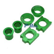 CNC Front & Rear Wheel Hub Spacers Chain Adjuster Axle Block For Kawasaki KX125 250 KXF250 KXF450 Motorcycle Motocross Dirt Bike