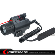 Greenbase M6 Tactical LED Flashlight and Red Laser Sight Combo With Remote Control and 20mm Mount For Glock 17 19  Hunting Rifle