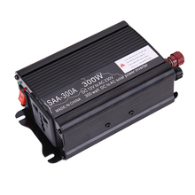 Portable Car Power Inverter 300W Solar Power Inverter 12V DC-230V AC Modified Charger Converter Adapter Power Supply