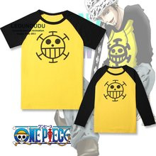 One Piece Cosplay Costumes O-neck Short-sleeve / Long Sleeve T-shirts Trafalgar Law Tops Casual Unisex Tees Summer shirts