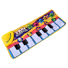 BOHS Finger Touch Play Child Electronic Piano Keyboard Musical Singing Carpet Toys(China)