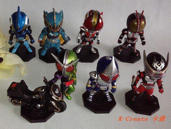 Free shipping 8pcs Japana anime 3generation Masked rider pvc figure dolls tall 8cm set.8pcs/set new Rider cartoon pvc character<br>