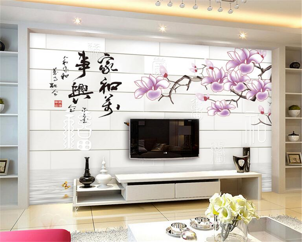 papel de parede 3d brick wall rich orchid mural 3d wallpaper living room bedroom decoration wallpaper background murals photo<br><br>Aliexpress