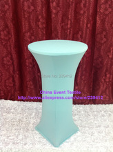 10pcs Extra larger #44 Aqua Lycra Dry Bar Cover&Cocktail Table Cover for Weddings Events &Banquet &Party Decoration