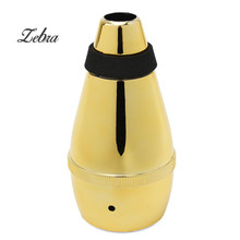 Zebra New Trumpet Straight Practice Cup Mute Musical Accessory Lightweight Golden Silencer For Beginner Portable