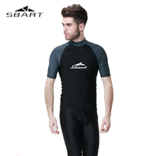 SBART Surfing Suit Scuba Diving Suit UPF50 Tops Coat Swimming Surfing Diving Snorkeling Windsurf Wetsuit Sports Rash Guard Man(China)