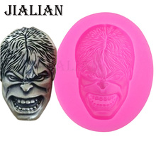 Hot-Sale Hulk head soap mould chocolate Party  cake decorating tools DIY baking fondant silicone mold T0374