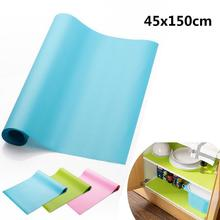 45x150CM Silicone Storage Drawers Mat Pad Kitchen Cabinet Shelf Liners Table Decoration Accessories Household Merchandises Stuff(China)