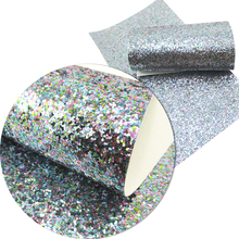 David accessories about 20*34cm glitter synthetic leather fabric DIY for knot-bow glitter Diy Bag Material ,1Y54508(China)