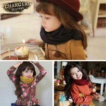 11 Colors Children's Scarves Solid Colors Stylish Soft Kids Girls Boys Baby Toddler Linen Scarf Winter Warm Shawl Neck Scarves