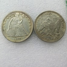 America Coins 1869 SEATED LIBERTY SILVER DOLLARS Copy Coins