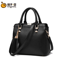2016 big bags of spring and summer fashion all-match embossed Handbag Shoulder Pu high-grade Xiekua package factory wholesale