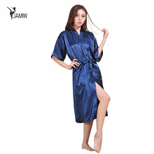Sexy Night Satin Lace Dress Oversized Sexy Robe Bathrobe Robe Wedding Bridesmaid Bridesmaid Dresses Perfect For Women(China)