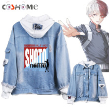 Coshome Costumes Men Hoodies Jacket Boku Academia Todoroki Cosplay Midoriya No-My-Hero