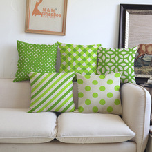 Vogue green Clover leaf geometry pattern seat Sofa car coffee shop hotel Home Cushions Cover Decoration Pillow case for gift(China)