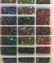 Mixte couleur 1440 pcs SS10 2.7-2.9mm Cristal DMC HotFix FlatBack Strass Strass Hot Fix Cristal strass