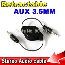 Stereo 3.5mm to 3.5 Jack Car Audio Flexible Extension Cable Male Retractable Aux Music Line for iphone 6 plus for LG g2 G3 cabos