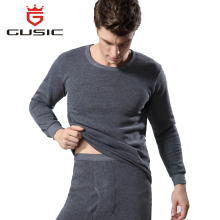 Winter Men Long Johns Thicken Mens Thermal Underwear Sets Plus Velvet Warm Long John O-Neck Thermal Undershirts Trousers(China)