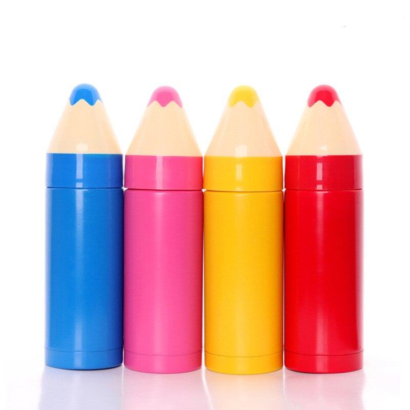 Kreative Bleistift Form Wasser Flaschen Edelstahl Isolierung Tasse Thermische Becher Vakuum Flaschen Kinder Thermos Flasche Drink