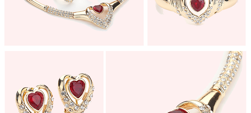CWEEL Jewelry Sets Indian Fashion Bridal Wedding Jewelry Heart Vintage Dubai Jewelry Sets Women Cheap Costume Jewellery (2)