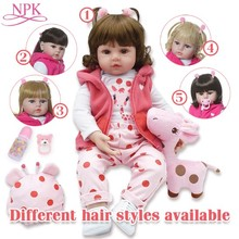 NPKCOLLECTION Reborn Baby Dolls Christmas-Gift Birthday Silicone Kids Boneca 48cm Corpo