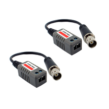 AHD/CVI/TVI 10 Pairs  BNC Female CCTV Video Balun passive Transceivers UTP Balun BNC Cat5 UTP Video Balun up to 2000ft Range