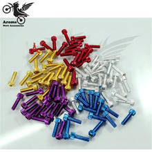 5 Colors Available motorcycle decal screw 6mm motorbike Accessories moto Ornamental Mouldings colorful red gold blue purple hot