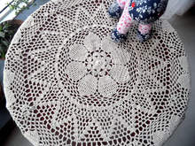 free shipping zakka Beige and white80cm round cotton crochet tablecloth lace table cover for home decor toalhas de mesa crochet