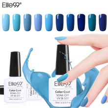 Elite99 10ml Blue Color Nail Polish Lacquer UV LED Lamp Drying Magic Top Base Coat Needed Soak-off Nail Gel Polish Pick 1(China)
