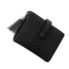 Cute Short Women Wallet Tassel Snap Zippper Coins Purses Hollow Out Heart Girls Card Holder Mini Dollar Price Pouch Carteira