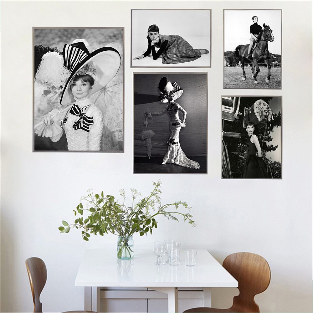 Audrey Hepburn Abstract Canvas Poster Wall Art Print Home Living Room Decoration