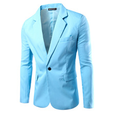 2017 high quality slim small suit classic Korean button color suit mens business casual jacket big size multicolor optional sale(China)