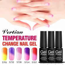 Verntion Chameleon Nail Polish Gel Temperature Changing Color Hybrid Nail Polish Varnish Soak off UV LED Lucky Gel Nail Art