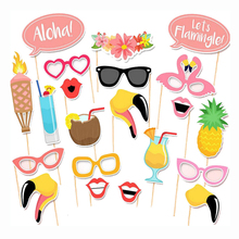 Free Shipping 21 pcs/lot Photo Booth Props Photobooth For Party Decoration Summer Holiday Event & Party Supplies