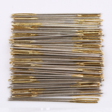 100 PCS/Lot Golden Tail Embroidery Fabric Cross Stitch Needles Size 24 For 11CT Stitch Cloth Sewing Kit