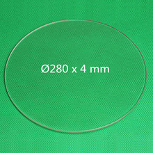 3d Printer Borosilicate Glass Plate Round 280mm x 4 mm Build Printer Plate Onyx Heizbett Boro Glass Transparent Color
