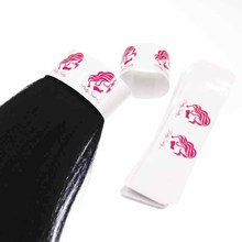25*110mm custom logo hair packaging labels,virgin human hair packaging wrap ,personalized white paper hair labels sticker