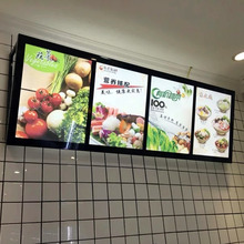 3PCS Restaurant Indoor Wall Mounted Black Aluminum Snap Frame LED Menu A1 Light Box Signs