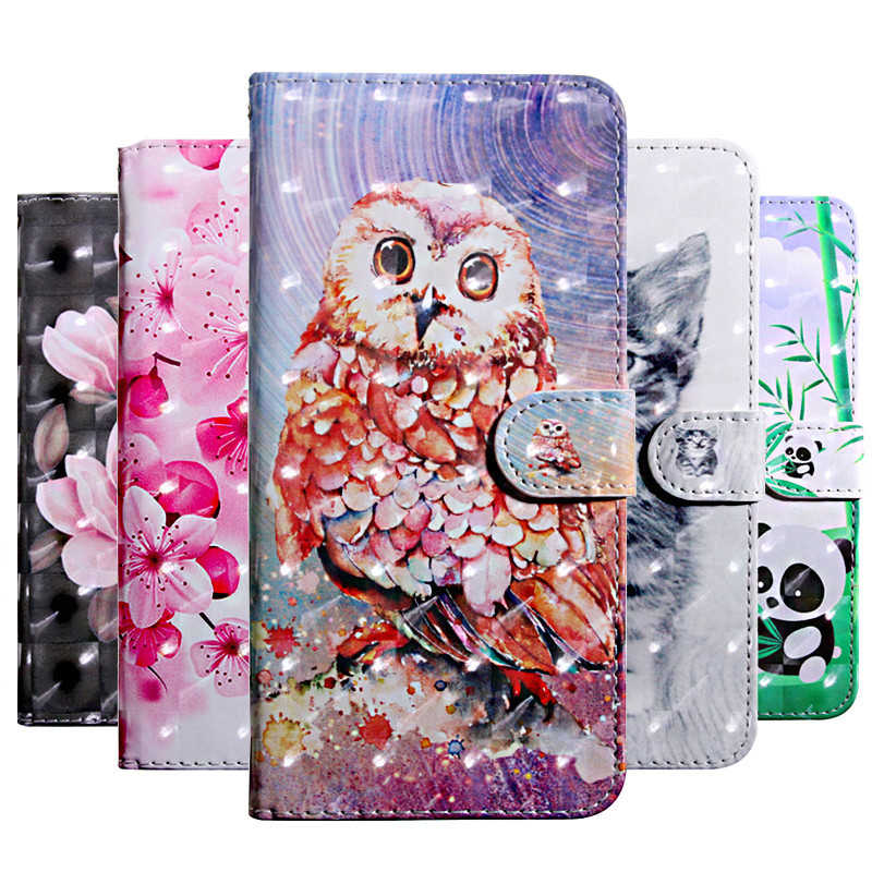 Honor 9 Lite Case on for Huawei Honor 7X 8X 10 Luxury 3D Painted Flip Leather Wallet Phone Cases for Huawei Honor Play Fundas
