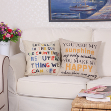 Romantic Valentine Day Cotton Linen Cushion Cover Pillowcase Love Waist Throw Pillow Cover Outdoor Chair Cushion 45*45cm/50*50cm